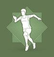 athlete runner a man runner running vector image vector image