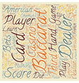 Baccarat History and American Baccarat Rules text vector image vector image