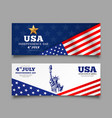 banners celebration flag america independence vector image vector image