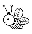 bee insect fauna farm animal cartoon background vector image