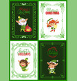 best wishes and happy holidays cards collection vector image vector image