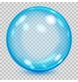 Big blue transparent glass sphere vector image vector image
