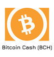 bitcoin cash bch crypto co vector image