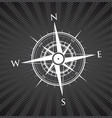 black compass background vector image vector image