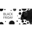 black friday sale promotional confetti banner vector image