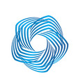 blue business swirly abstract icon logo vector image vector image