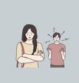breakup divorce and quarrelling concept vector image