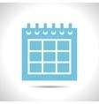 calendar icon Epsflat color0 vector image vector image