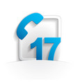 call 17 icon vector image vector image