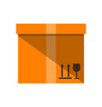 cardboard box icon in flat design vector image vector image