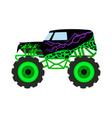 cartoon monster truck big car t-shirt print vector image