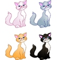 cat cartoon collection vector image vector image