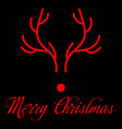 christmas cards red nose deer image vector image