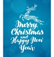 Christmas greeting card Decorative xmas reindeer vector image vector image