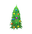 christmas tree isolated on wite background vector image vector image
