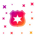 color police badge icon isolated on white vector image vector image
