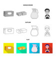 creamy and product icon vector image