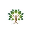 creative people tree body happy logo vector image vector image