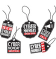 Cyber monday tag set vector image vector image