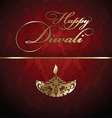 decorative diwali background 2609 vector image vector image
