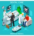 Dentist Wait Room Isometric People vector image vector image