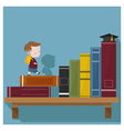 Education is superpower to success 4 vector image