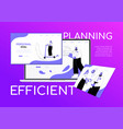 efficient planning - flat design style colorful vector image vector image