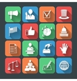 Elections icons set vector image vector image