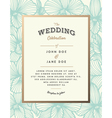 Elegant wedding invitation with orchid flowers vector image vector image
