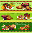 filipino meat dishes with vegetable fruit dessert vector image vector image