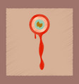 flat shading style icons halloween zombie eyes vector image vector image