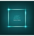 Frame Light Effect on Dark Blue Background vector image vector image