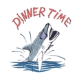 Funny shark vector image