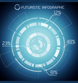 futuristic techno abstract infographics vector image vector image