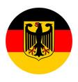 germany flag circle banner flag vector image vector image