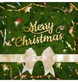 Golden Christmas greeting EPS 10 vector image