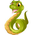 green funny snake vector image