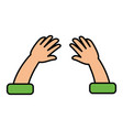 hands human isolated icon vector image
