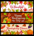 happy thanksgiving day banners cornucopia vector image vector image