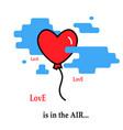 heart balloon flie flies parachute icon vector image vector image
