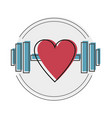 i love gym workout and fitness gym motivation vector image