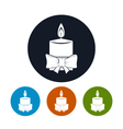 Icon Christmas Festive Candle vector image
