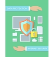 Internet security data protection flat vector image vector image