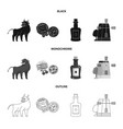 isolated object and historic icon set and vector image vector image