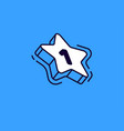 isometric star with number one isolated on blue vector image vector image