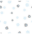 letter with a snowflake on a white background vector image