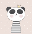 little cute panda princess vector image vector image