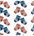 little knitting socks seamless pattern vector image vector image