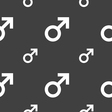 Male sex icon sign Seamless pattern on a gray vector image