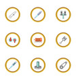 mechanical and electrical parts icons set cartoon vector image vector image